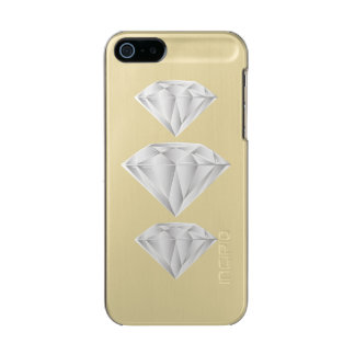 White Diamond for my sweetheart Metallic iPhone SE/5/5s Case