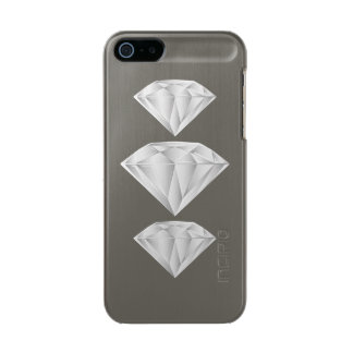 White Diamond for my sweetheart Metallic Phone Case For iPhone SE/5/5s