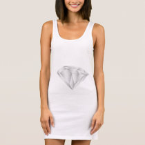 White Diamond for my sweetheart Sleeveless Dress