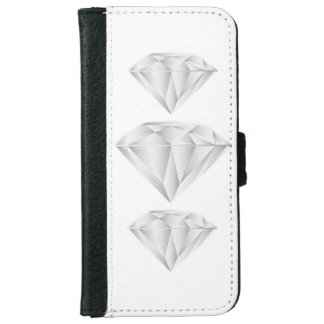 White Diamond for my sweetheart Wallet Phone Case For iPhone 6/6s