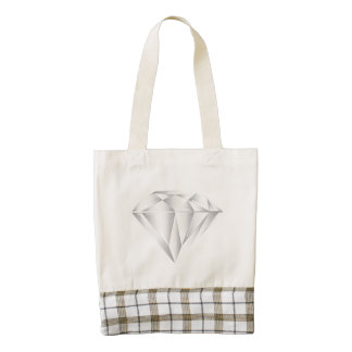 White Diamond for my sweetheart Zazzle HEART Tote Bag