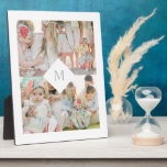 """White Diamond Monogram Plaque<br><div class=""""desc"""">A custom photo plaque is a beautiful way to display your family photos. This modern collage design features 4 photos and a diamond divider with your custom monogram. For more advanced customization of this design such as changing colors or font style, simply select the &quot;Customize It&quot; button above! All photography...</div>"""
