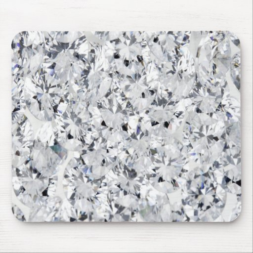 WHITE DIAMOND MOUSE PADS
