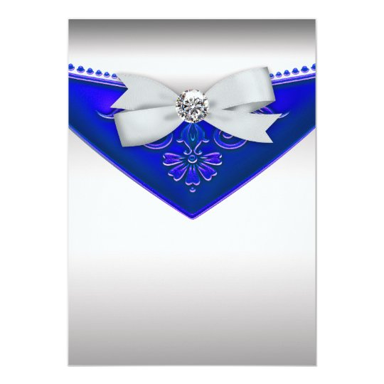 Awesome White Diamond Royal Blue Birthday Party Invitation Personalised Birthday Cards Petedlily Jamesorg