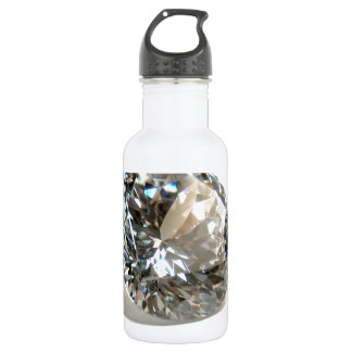 White Diamond. Stainless Steel Water Bottle
