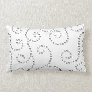 white diamond swirls throw pillows