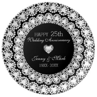 White Diamonds Black Circle- 25th Anniversary