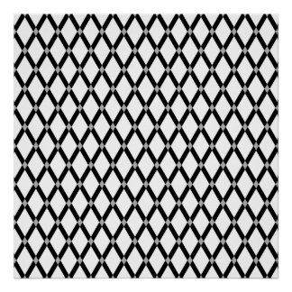 White Diamonds-Black Frames Poster