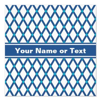 White Diamonds-Classic Blue Frames Invitation