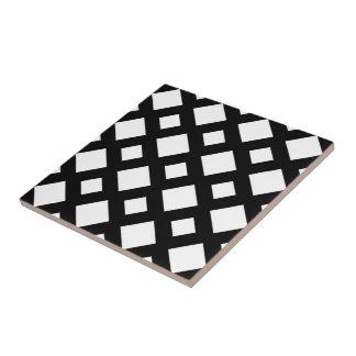 White Diamonds on Black Tile