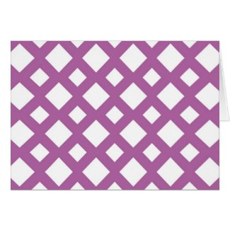 White Diamonds on Lavender Cards