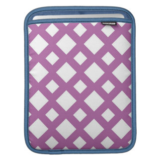 White Diamonds on Lavender iPad Sleeves