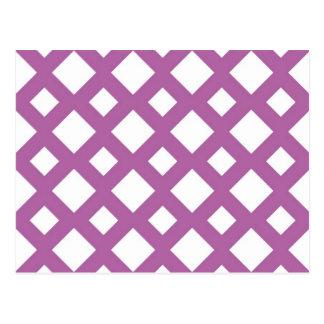 White Diamonds on Lavender Post Card
