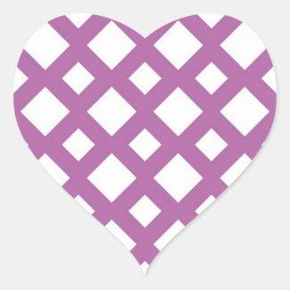 White Diamonds on Lavender Sticker