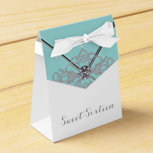 Sweet 16 Birthday Party Favor Box