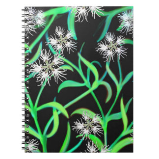 White Dianthus Deco Notebook