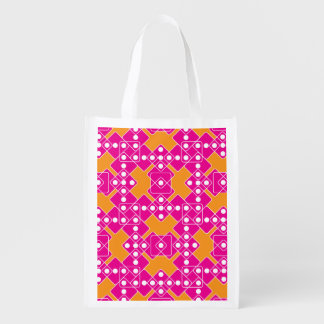 White Dice Grocery Bag