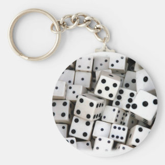 White Dice Keychain