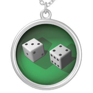 White Dice Lucky Necklace