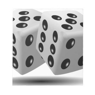 White dice notepad