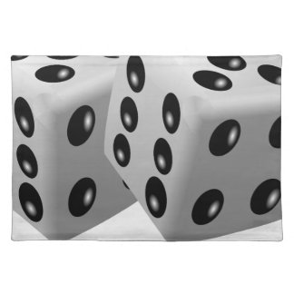White dice placemat