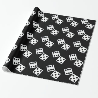 White Dice Wrapping Paper