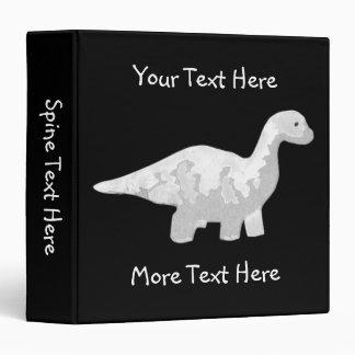 White Dinosaur Binder