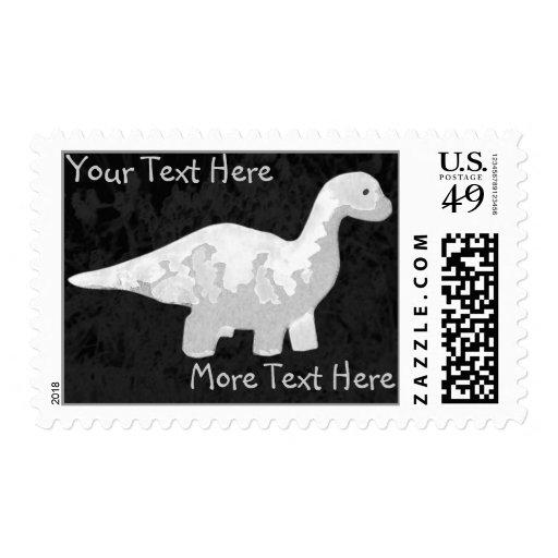 White Dinosaur Postage