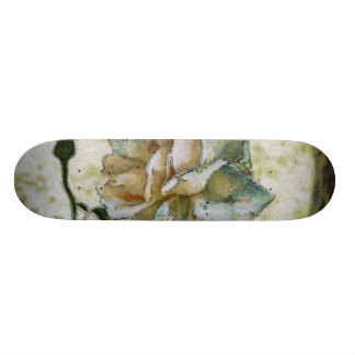 White discolored rose skateboard