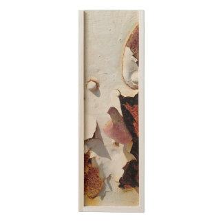White Distressed Rusty Metal, Weathered Retro Wooden Keepsake Box