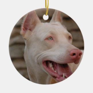 White Doberman Ornament