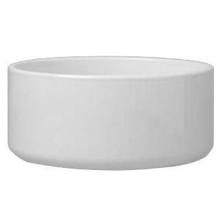 White ~ Dog Bowl 40oz