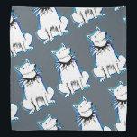 "white dog cartoon style illustration bandana<br><div class=""desc"">gray background,  design by anticute!..</div>"