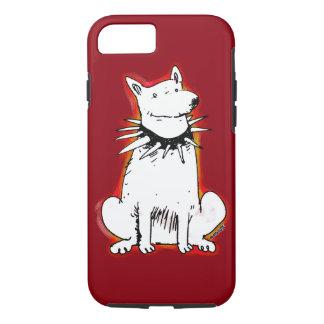 white dog cartoon style illustration iPhone 7 case
