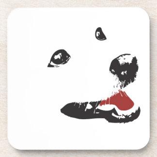 White Dog Coaster