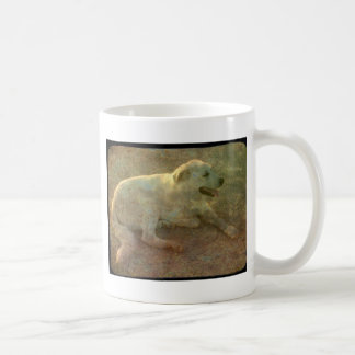 White Dog Coffee Mug