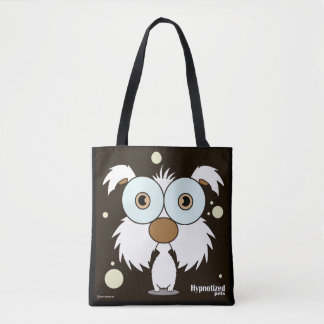 White Dog Custom All-Over-Print Tote Bag