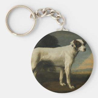 White Dog de vizconde Gormanston de George Stubbs Llavero Redondo Tipo Pin