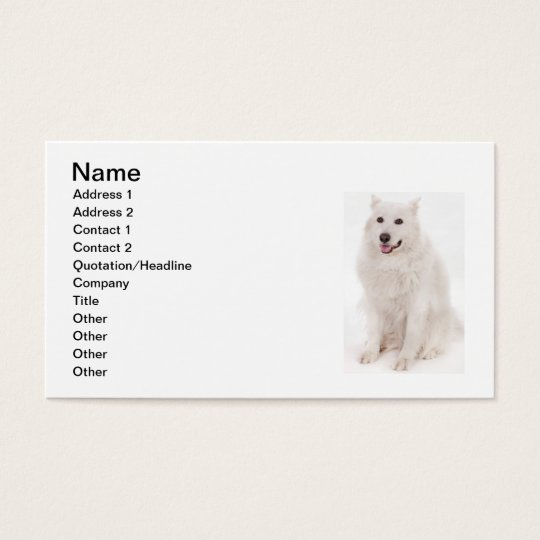 WHITE DOG DIGITAL REALISM PETS HAPPY LOGO CAUSES A BUSINESS CARD
