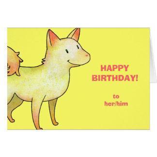 White Dog Greeting Card(customizable)