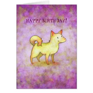 White Dog Greeting Card(customizable) Card