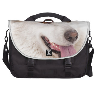 WHITE DOG HAPPY PETS FURRY FRIENDS ANIMALS TAME LO COMMUTER BAGS