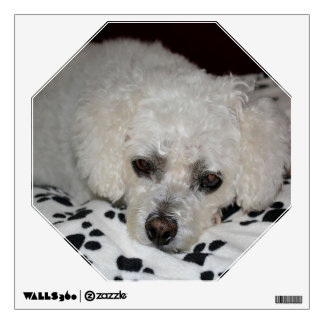 White Dog Octagon Wall Decal
