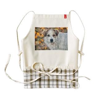 White dog painting zazzle HEART apron