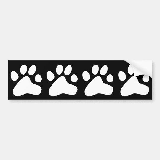 White Dog Paws Bumper Sticker