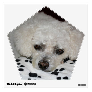 White Dog Pentagon Wall Decal