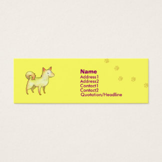 White Dog Profile Card
