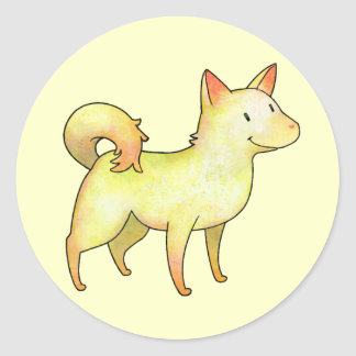 White Dog Small Stickers