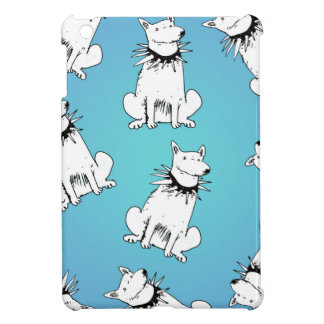 white dog with spike collar iPad mini case