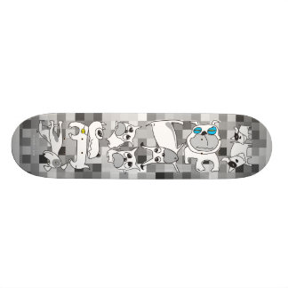 White Doggie Skateboard